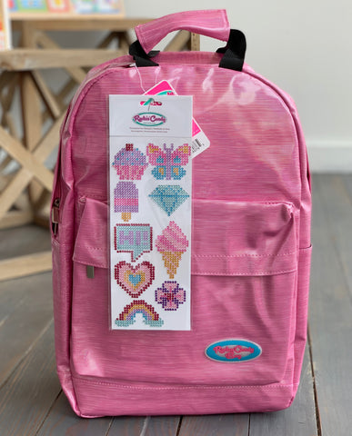 Rockin' Candy Pink Backpack w/ Stickers