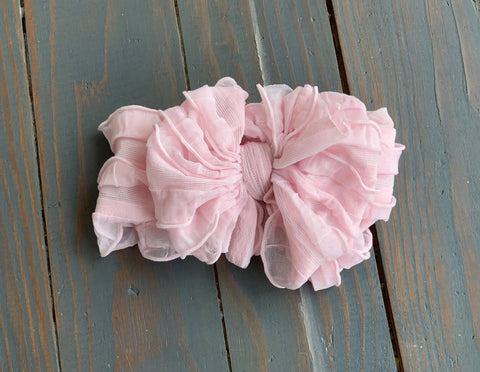 Light Pink Ruffle Headband