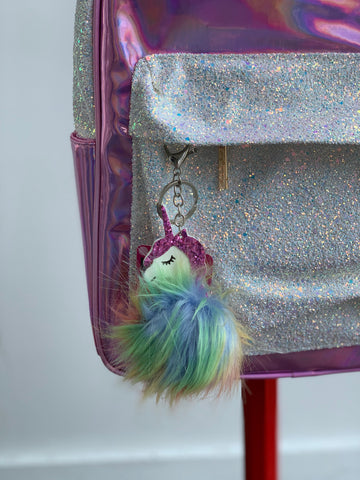 Unicorn Fur Keychain
