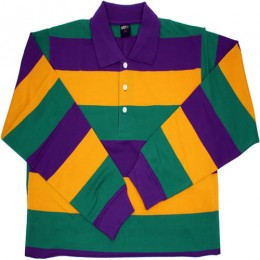 Mardi Gras Collared Long Sleeve Shirt
