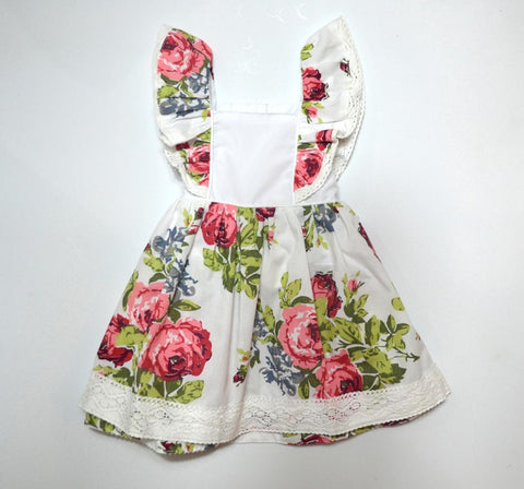 White Floral Pinafore