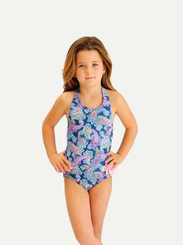 Traje de Baño Niña Entero - Neon Waves One Piece - 6 Meses a 14 Años