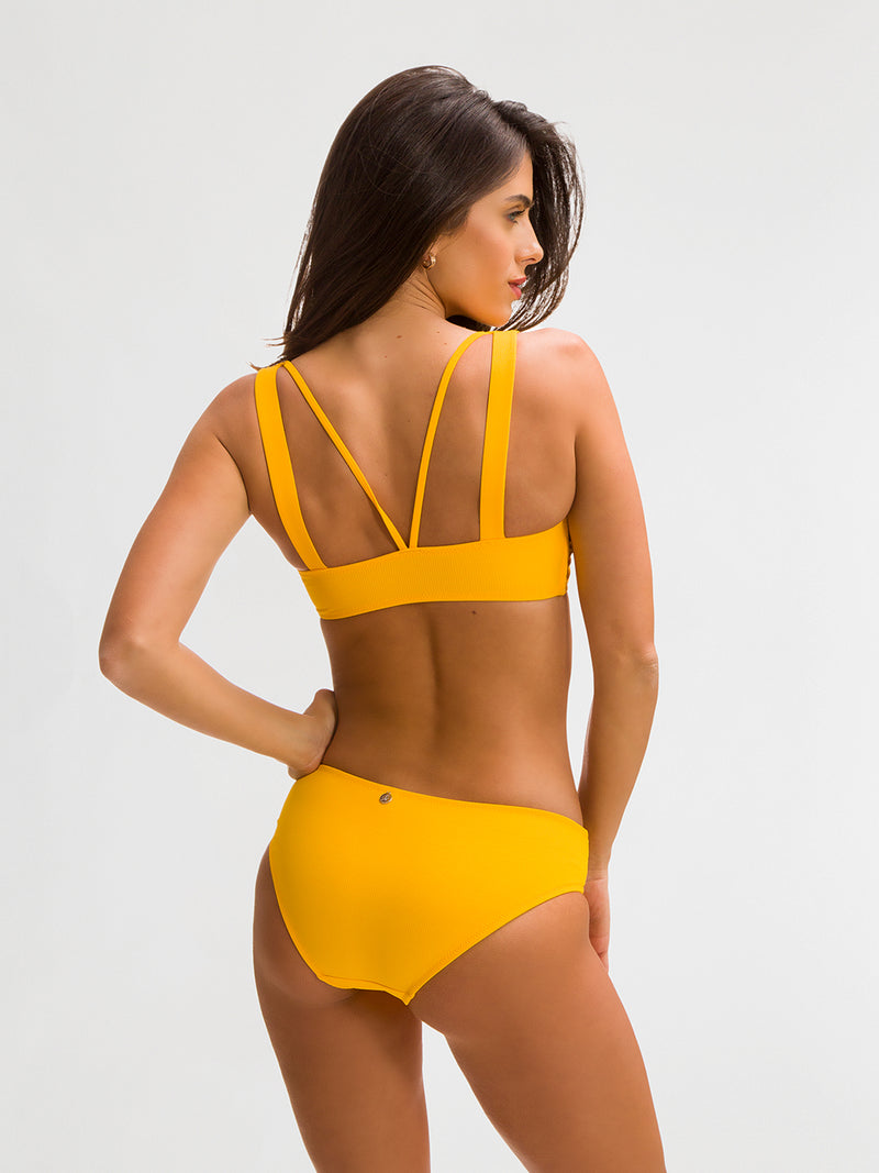 Bikini Bottom para Mujer Color Amarillo - Nizuc Azafrán - SHE by 98 2020