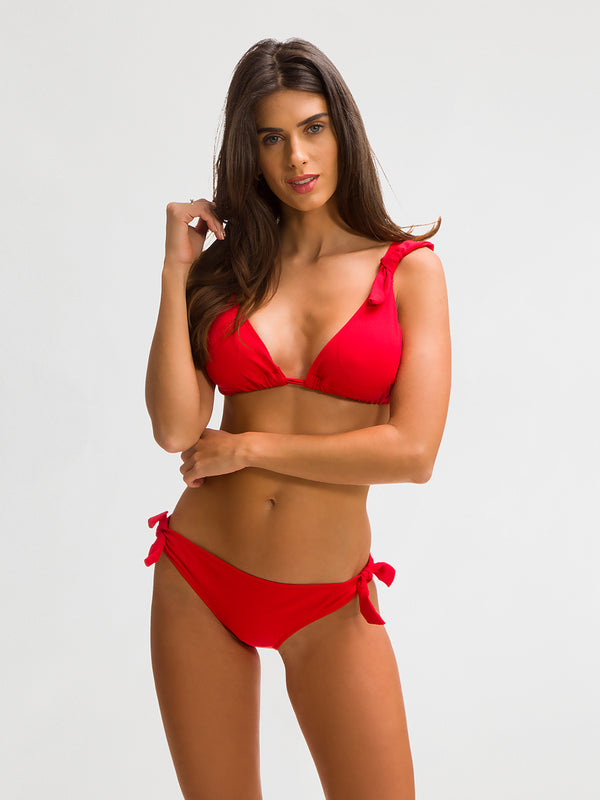 Bikini Bottom para Mujer Color Rojo - Palmitas Sandía - SHE by 98 2020