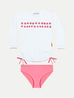 Camiseta UV Niña - Pompoms con bottom