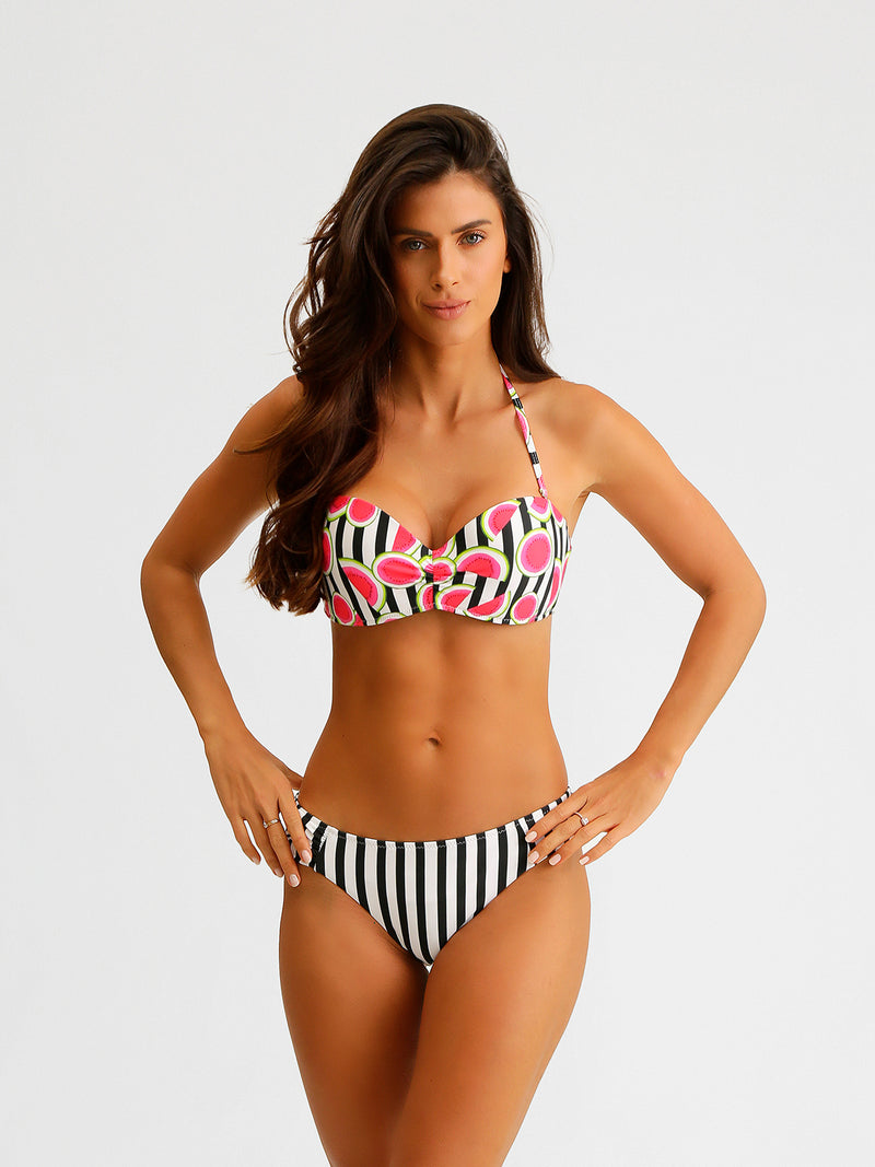 Traje de Baño Mujer Bikini - Top and Bottom Sweet Stripes - Secado Rápido
