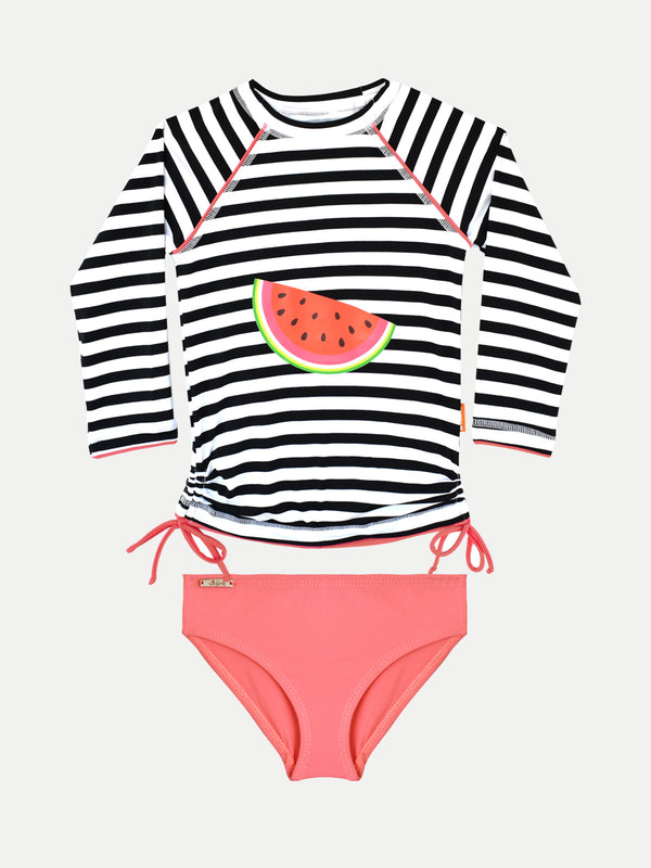 Camiseta UV Niña - Watermelons con bottom