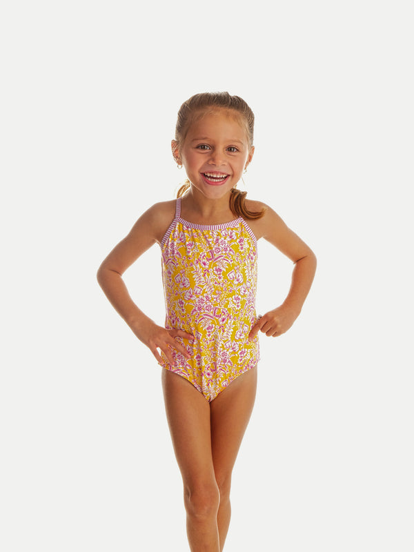 Traje de Baño Niña Entero - One Piece Bloom Yellow - 6 Meses a 14 Años