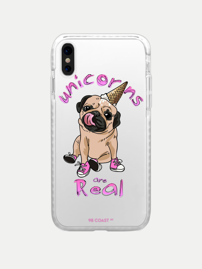 Funda para Celular Space Pug Unicorn Bumper - Funda iPhone Accesorios Celulares