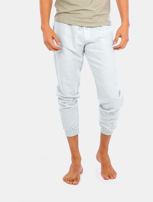 Pantalón de Lino Light Blue
