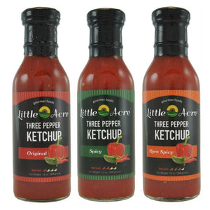 Three Pepper Ketchup Three Pack (choose your heat levels)