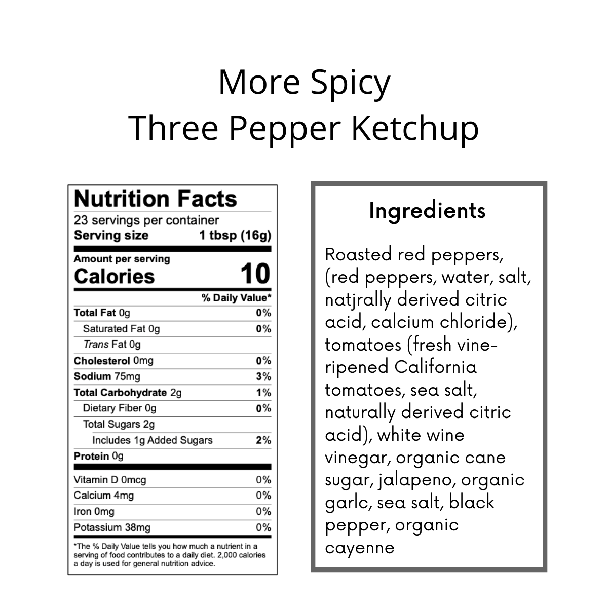 More Spicy Three Pepper Ketchup