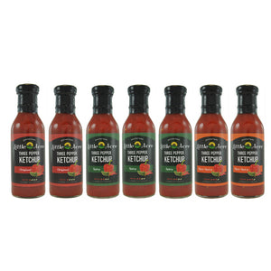 Seven Three Pepper Ketchups For $7  Each