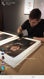 Miles signing prints during live Q&A March 31st, 2018