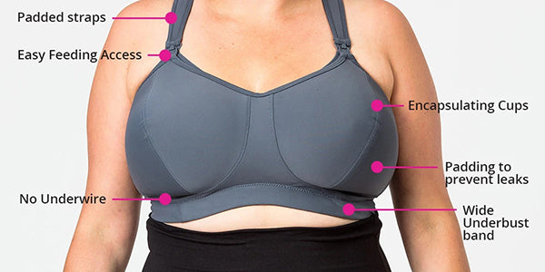 nursing bras for large breasts