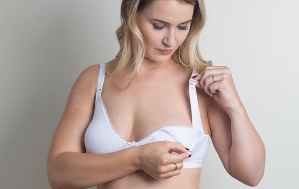 White beautiful maternity bra
