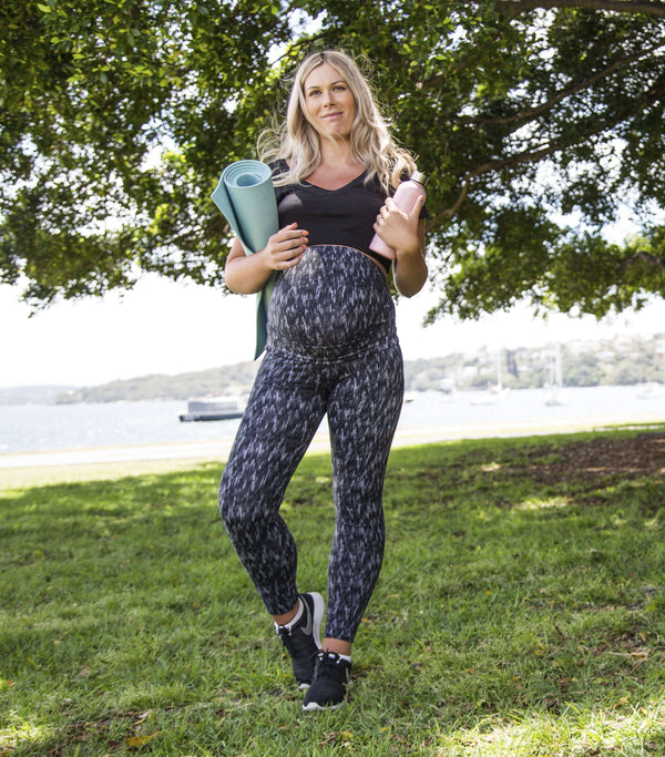 Patterned Design Full-length Everyday Maternity Compression Legging | New Bloom