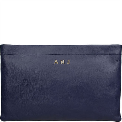 Skull Carrie Medium Suede Clutch