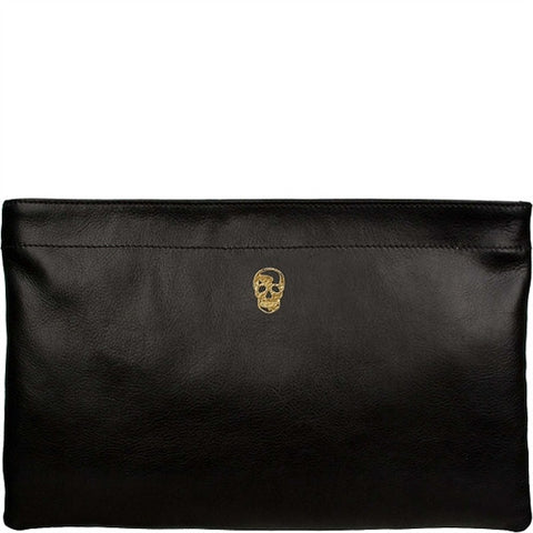 Skull Annie Leather Clutch
