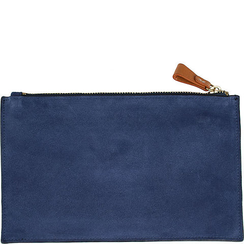 Carrie Medium Suede Clutch