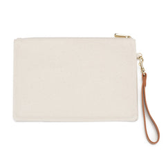 Haute Mess Lisa Coated Canvas Pouch / Embroidery