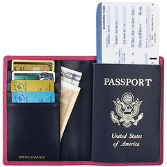 Passport Stamped Tommy Leather Passport Holder