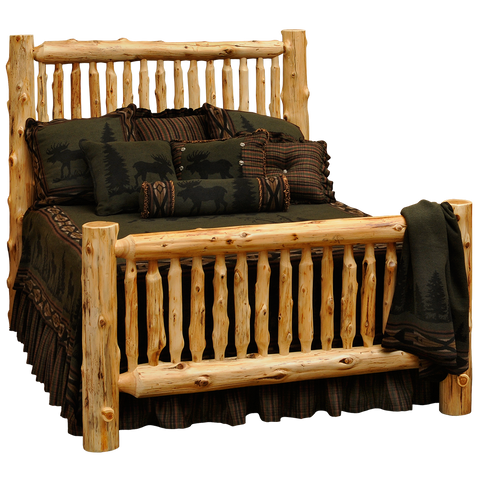 Cedar Small Spindle Log Bed