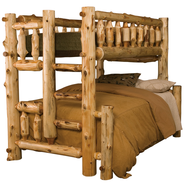 Cedar Log Bunk Bed