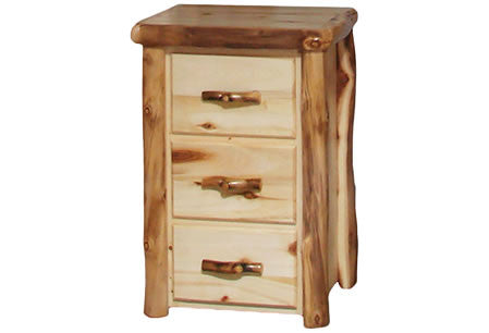 3 Drawer Chest in Flat Front (24″W)  in Natural Panel & Natural Log