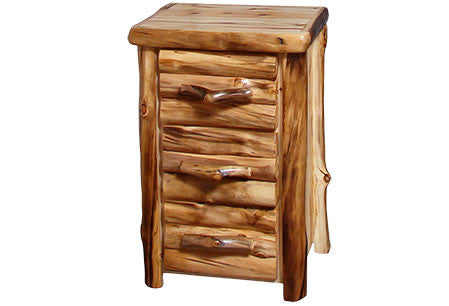 3 Drawer Chest in Log Front (24″W)  in Wild Panel & Natural Log
