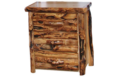 3 Drawer Chest in Log Front (33″W)  in Natural Panel & Gnarly Log