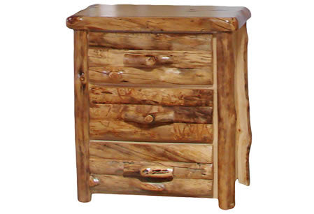 3 Drawer Chest in Log Front (33″W)  in Natural Panel & Natural Log