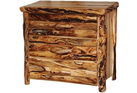 3 Drawer Chest in Log Front (39″W)  in Wild Panel & Gnarly Log