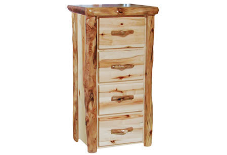 4 Drawer Chest in Flat Front (24″W)  in Wild Panel & Natural Log