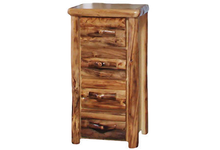4 Drawer Chest in Log Front (24″W)  in Natural Panel & Natural Log