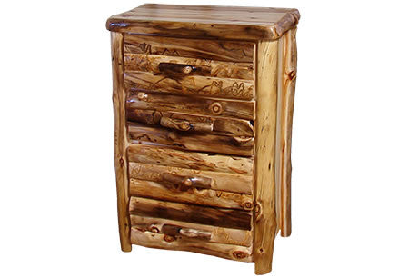 4 Drawer Chest in Log Front (33″W)  in Wild Panel & Natural Log