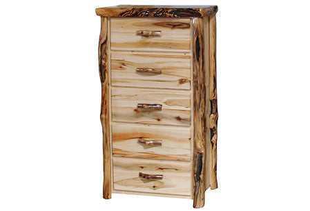 5 Drawer Chest in Flat Front (33″W)  in Wild Panel & Gnarly Log