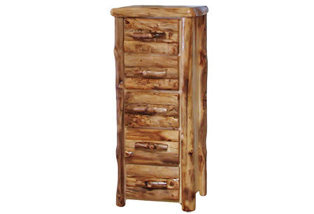 5 Drawer Chest in Log Front (24″W)  in Natural Panel & Natural Log