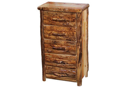 5 Drawer Chest in Log Front (33″W)  in Wild Panel & Natural Log