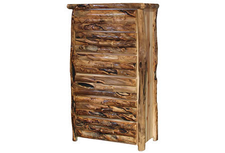 6 Drawer Chest in Log Front (39″W)  in Wild Panel & Gnarly Log