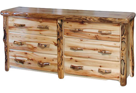 Log Six Drawer Dresser