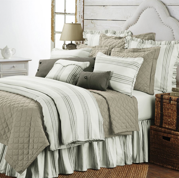 Taupe Prescott Bedding Set