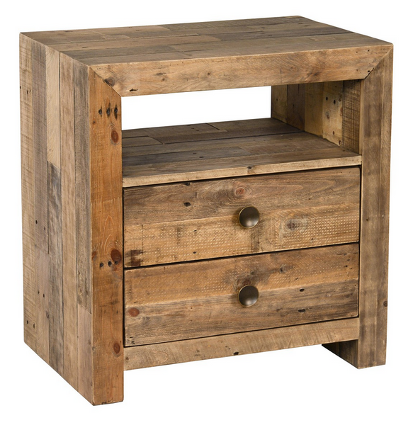 Aamia Brown 2 Drwr Night Stand
