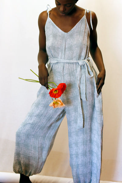 Bianca Bohemian Jumpsuit - Eco Jumpsuit, Deadstock, Recycled cotton-linen | Love Faustine