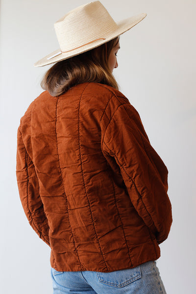 Vintage Czech Quilted Liner Jacket -  Rust