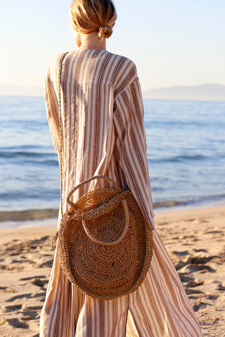 Summer Sand Straw Tote