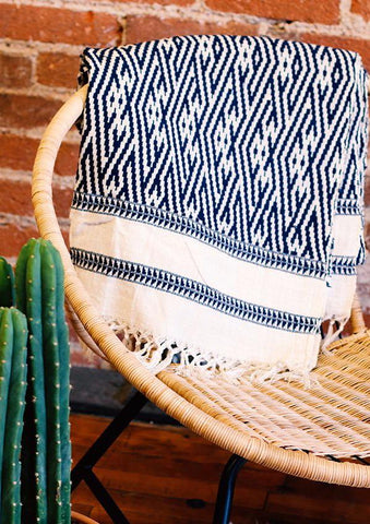 Thailand Handwoven Throw, Cotton Blanket, Boho, Ethically Sourced Blanket, Decorative Throw | Love Faustine