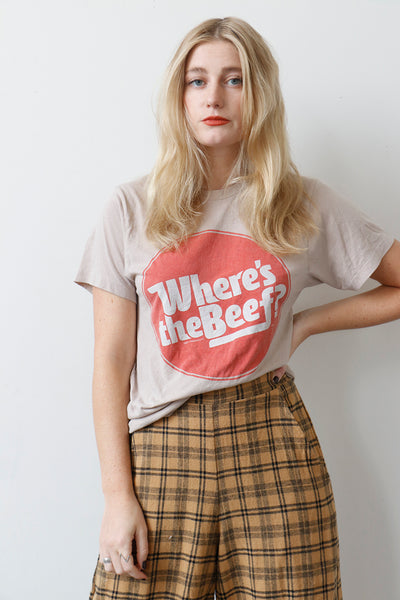 Vintage Where's The Beef Tee Shirt