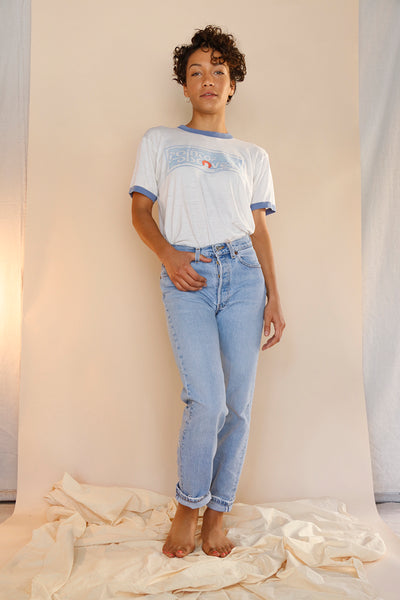 Embroidered Vintage Levi's Jeans, Upcycled Denim | Love Faustine