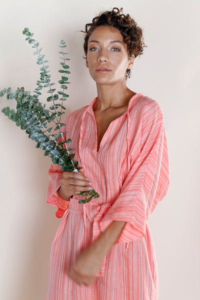 Lucia Caftan, Deadstock Linen Midi Dress, Recycled Fabric, Locally Made | Love Faustine